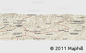 Shaded Relief Panoramic Map of El Milia