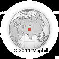 Outline Map of Hunza, rectangular outline