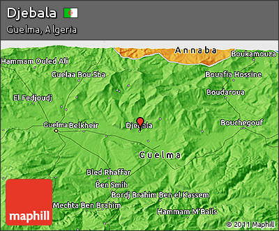 Political 3D Map of Djebala