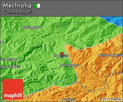 Political 3D Map of Mechroha