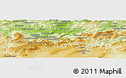 Physical Panoramic Map of Bouafia Hossîne