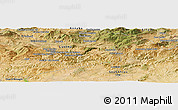 Satellite Panoramic Map of Oued Cheham