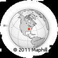 Outline Map of East Nashville, rectangular outline