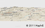 "Shaded Relief Panoramic Map of the area around 36° 19' 55"" N, 8° 34' 29"" E"