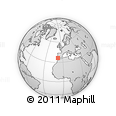 """Outline Map of the Area around 36° 19' 55"""" N, 8° 25' 30"""" W, rectangular outline"""