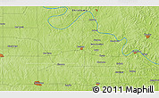 """Physical 3D Map of the area around 36°19'55""""N,96°49'29""""W"""