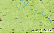 """Physical Map of the area around 36°19'55""""N,96°49'29""""W"""