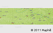"""Physical Panoramic Map of the area around 36°19'55""""N,96°49'29""""W"""