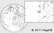 """Blank Location Map of the area around 36°19'55""""N,9°16'30""""W"""