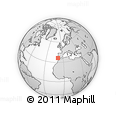 """Outline Map of the Area around 36° 19' 55"""" N, 9° 16' 30"""" W, rectangular outline"""