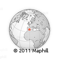 """Outline Map of the Area around 36° 47' 25"""" N, 0° 46' 30"""" W, rectangular outline"""