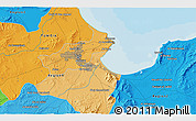 Political 3D Map of Tunis