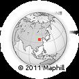 Outline Map of Mianshan Mountain, rectangular outline