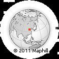 Outline Map of Handan, rectangular outline