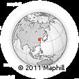 Outline Map of Ershilipu, rectangular outline