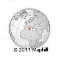 Outline Map of Pantelleria, rectangular outline