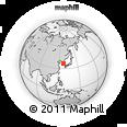 Outline Map of Ch'ungju, rectangular outline