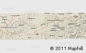 Shaded Relief Panoramic Map of Ch'ungju