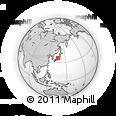 Outline Map of Toyama, rectangular outline