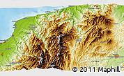 """Physical 3D Map of the area around 36°47'25""""N,137°46'30""""E"""