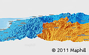 """Political Panoramic Map of the area around 36°47'25""""N,137°46'30""""E"""