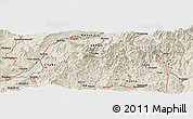 Shaded Relief Panoramic Map of Higashi-ōtaki