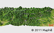 "Satellite Panoramic Map of the area around 36° 47' 25"" N, 139° 28' 29"" E"