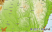 """Physical Map of the area around 36°47'25""""N,140°19'29""""E"""