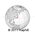 Outline Map of Ujiie, rectangular outline