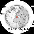 Outline Map of Hadjeret Ennous, rectangular outline