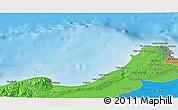 Political 3D Map of El Mouradia