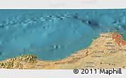Satellite 3D Map of El Mouradia