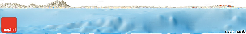 Shaded Relief Horizon Map of Algiers