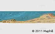 Satellite Panoramic Map of El Mouradia