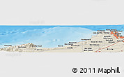 Shaded Relief Panoramic Map of Algiers