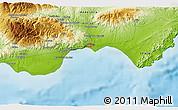 Physical 3D Map of Roquetas de Mar