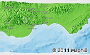 Political 3D Map of Roquetas de Mar