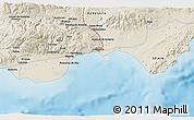 Shaded Relief 3D Map of Roquetas de Mar
