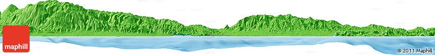 Political Horizon Map of Roquetas De Mar
