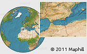 Satellite Location Map of El Ejido