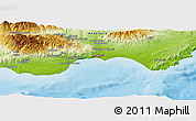 Physical Panoramic Map of Almería