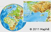 Physical Location Map of Antalya
