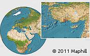 Satellite Location Map of Antalya