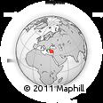Outline Map of Konaklı, rectangular outline