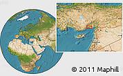 Satellite Location Map of Seyhan