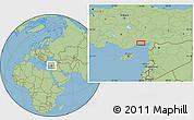 Savanna Style Location Map of Seyhan