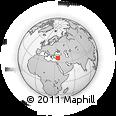 Outline Map of Seyhan, rectangular outline