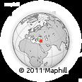 Outline Map of Hassa, rectangular outline