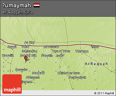 Free Physical 3D Map of umaymah