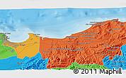 Political 3D Map of Assouaf